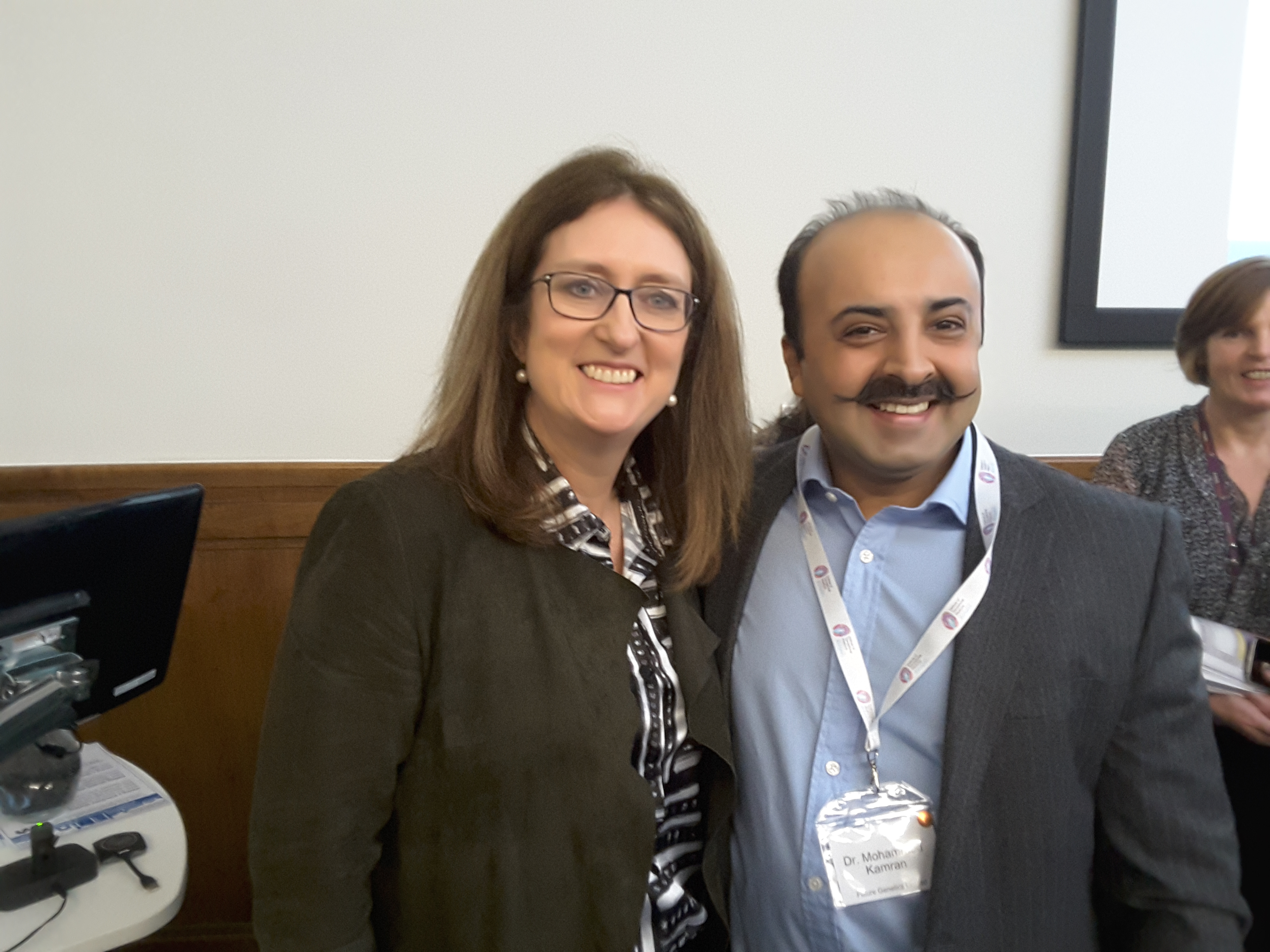 The Right Honourable Jacqui Smith (Chair University Hospitals Birmingham NHS Foundation Trust) and Dr Mohammed Kamran (CEO, Future Genetics)
